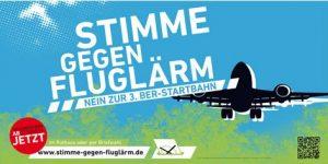 Flyer Stimme gegen Fluglärm